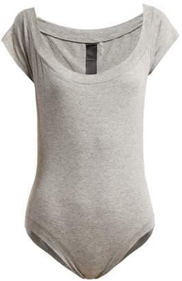 Norma Kamali Scoop Neck Jersey Bodysuit - Womens - Grey