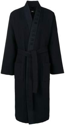 HUGO BOSS waffle knit dressing gown