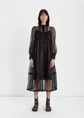 Maison Margiela Transparent Jersey Dress Black
