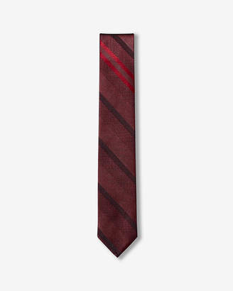 Express Slim Diagonal Stripe Reversible Silk Tie
