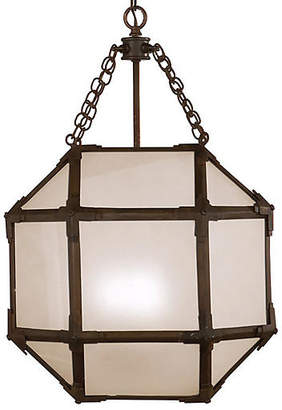 Visual Comfort & Co. Morris Lantern - Antiqued Zinc/Frosted
