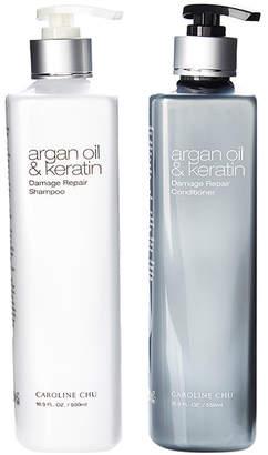 Caroline Chu Argan Oil & Keratin Damage Repair Haircare Set