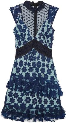 SELF-PORTRAIT Daisy-appliqué lace dress $480 thestylecure.com