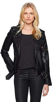 Blank NYC [BLANKNYC] Women's Floral Moto Jacket