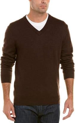 Qi Merino Wool V-Neck Sweater