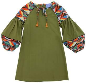 Stella Jean Maasai Cotton Poplin Dress