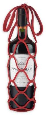 Final Touch Up & Away Collapsible Silicone Bottle Bag in Red