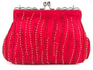 Farfalla Womens 90472 Clutch Red