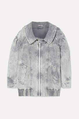 Miu Miu Oversized Denim Jacket - Gray