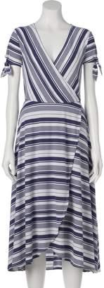Lauren Conrad Women's Faux-Wrap Midi Dress