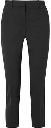 Theory Treeca Cropped Stretch-wool Slim-leg Pants - Black