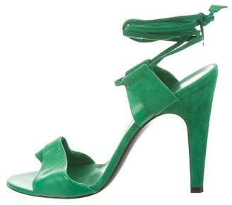 Hermes Suede Lace-Up Sandals