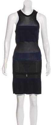 Calvin Klein Collection Rib Knit Midi Dress