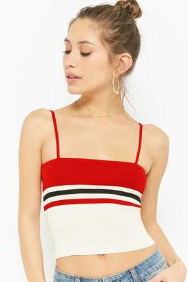Forever 21 Striped Cropped Cami