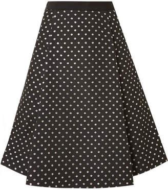 Draper James Polka-dot Jacquard Skirt - Black