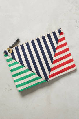 Clare V. Canvas Diagonals Pouch $218 thestylecure.com