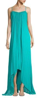 Laundry by Shelli Segal Pleated High-Low Dress