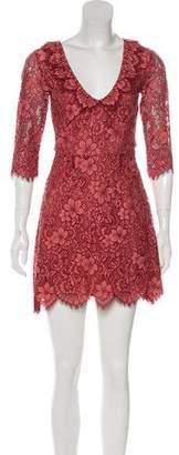 For Love & Lemons Embroidered Long Sleeve Dress