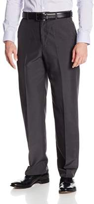 Geoffrey Beene Men's Subtle Plaid Dress Pant with Extender Waist