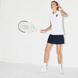 Lacoste Women's SPORT Roland Garros Edition Stretch Mini Pique Polo