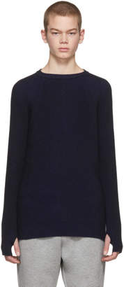 Diesel Black Gold Blue and Black Ribbed Sweater