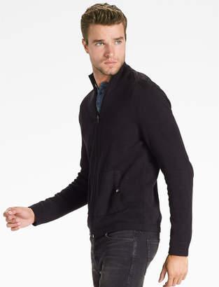 Lucky Brand Black Full Zip Sweater