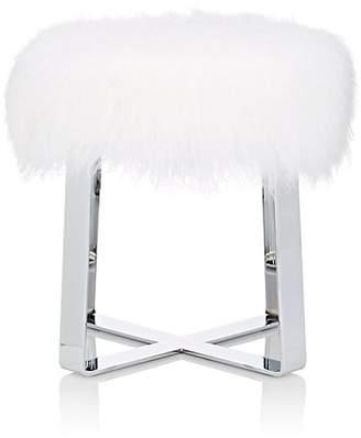 Barneys New York Fur Flat Bar Stool