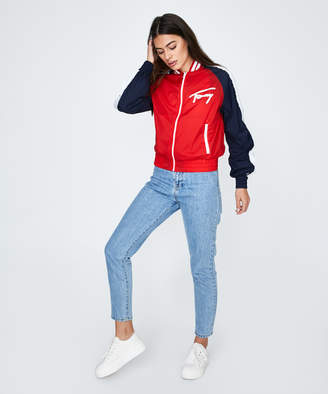Tommy Jeans TJW Logo Bomber Flame Red/White