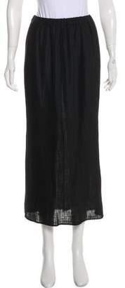 eskandar Linen Blend Midi Skirt