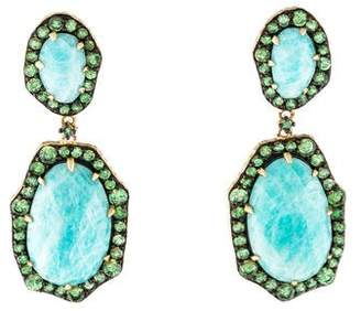 Phillips House 14K Amazonite & Tsavorite Garnet Drop Earrings