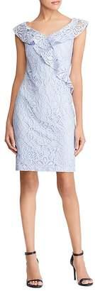 Lauren Ralph Lauren Ruffle-Trimmed Lace Dress - 100% Exclusive