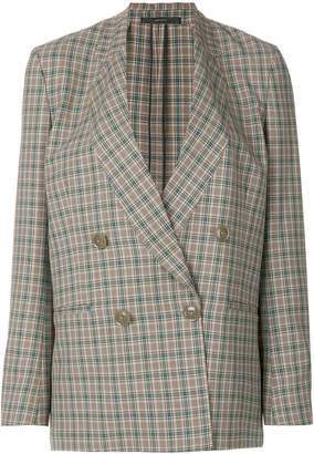 Paul Smith checked double-breasted jacket