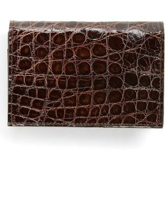 Boconi Crocodile Gusseted Card Case