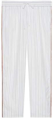 Gucci Striped cotton jogging pant