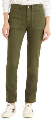 J.Crew Slub Sateen Straight Leg Cargo Pants