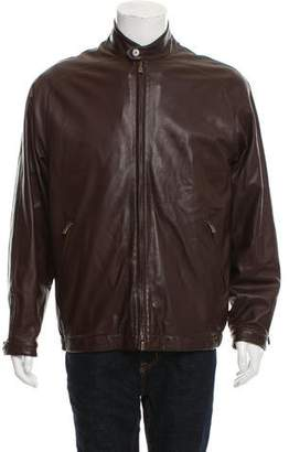 Loro Piana Roadster Short Leather Jacket