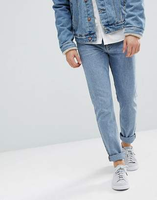 Weekday Sunday Tapered Fit Jeans Bate Blue