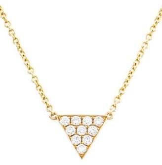 Anita Ko 18K Diamond Small Triangle Pendant Necklace