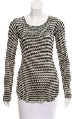 Marissa Webb Striped Lace-Up Top