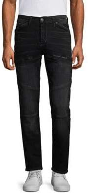 True Religion Rocco Moto Slim Fit Jeans