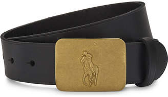Ralph Lauren Embossed logo leather belt 8-14 years