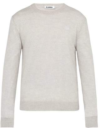 Jil Sander Ribbed Crew Neck Wool Sweater - Mens - Grey