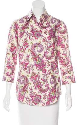 Robert Graham Floral Print Button-Up Top $80 thestylecure.com