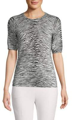 Republic Zebra Print Crewneck Top