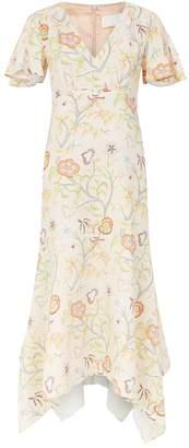 Peter Pilotto Floral Print V-Neck Dress