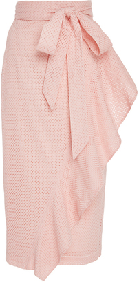 Marysia Swim Rose Seahaven Asymmetric Ruffle Skirt $550 thestylecure.com