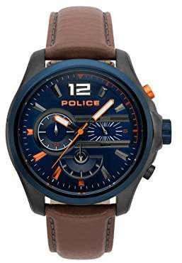 Police Mens Chronograph Quartz Watch with Leather Strap PL.15403JSUBL/03