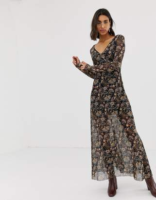 Stradivarius paisley print maxi dress