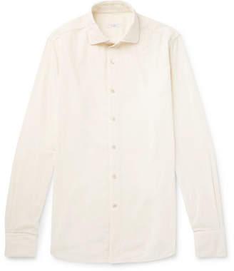 Incotex Ween Slim-Fit Cutaway-Collar Cotton-Corduroy Shirt