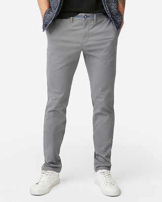 Express Skinny Chambray Trim 365 Comfort Stretch+ Chino Pant